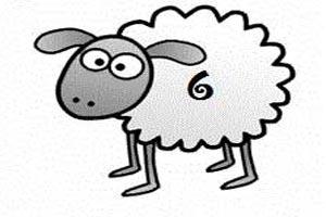 چطور یک گوسفند کارتونی زیبا و ساده بکشیم؟